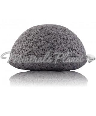 Konjac sponge губка Конжак для умывания черная
