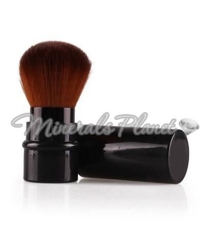 Выдвижная кисть кабуки черная для минеральной пудры