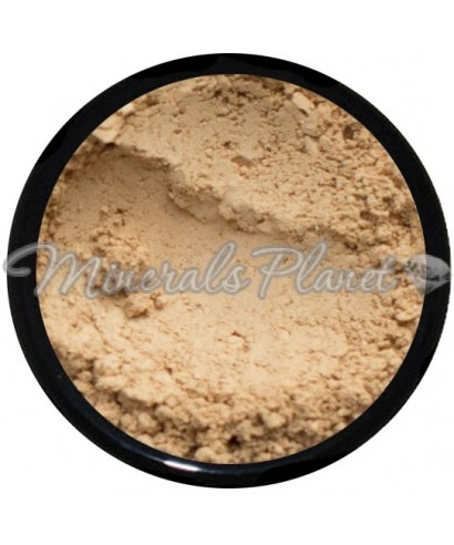 Минеральная основа Medium beige warmer  the all natural face  - Фото, свотчи