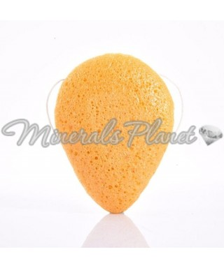 Konjac sponge губка Конжак для умывания желтая