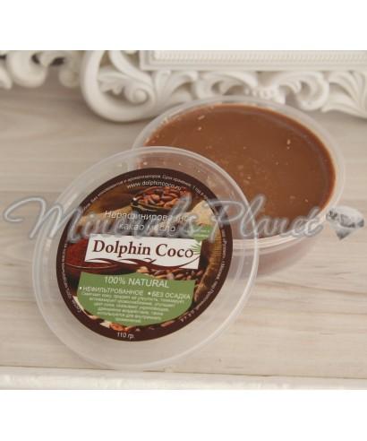 Какао-масло темное нерафинированное Dolphin Coco