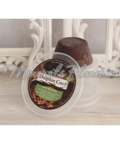 Какао скраб - плитка 65г Dolphin coco