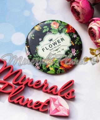 Зеркало компактное одностороннее Flower