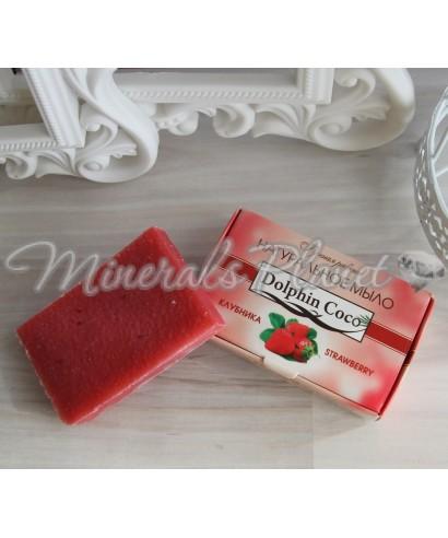 Натуральное мыло ручной работы Клубника dolphin coco