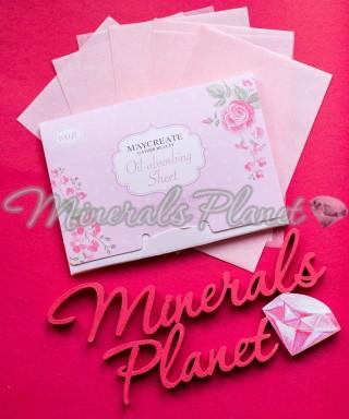 Матирующие салфетки розовое масло 100шт