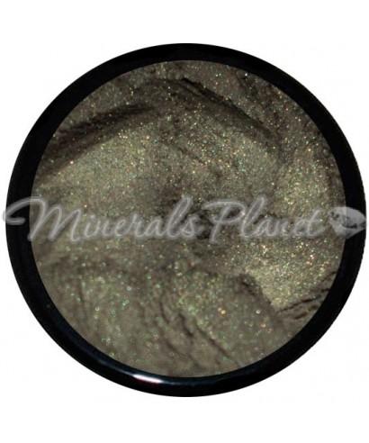 Минеральные тени Soft shimmer green lucy minerals  - фото, свотчи