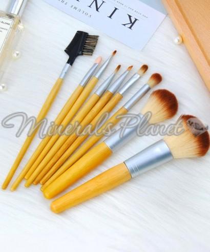 Набор кистей №2 бамбуковая ручка (9шт.)