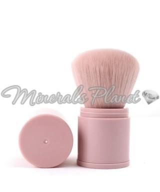 Выдвижная кисть кабуки светло-розовая