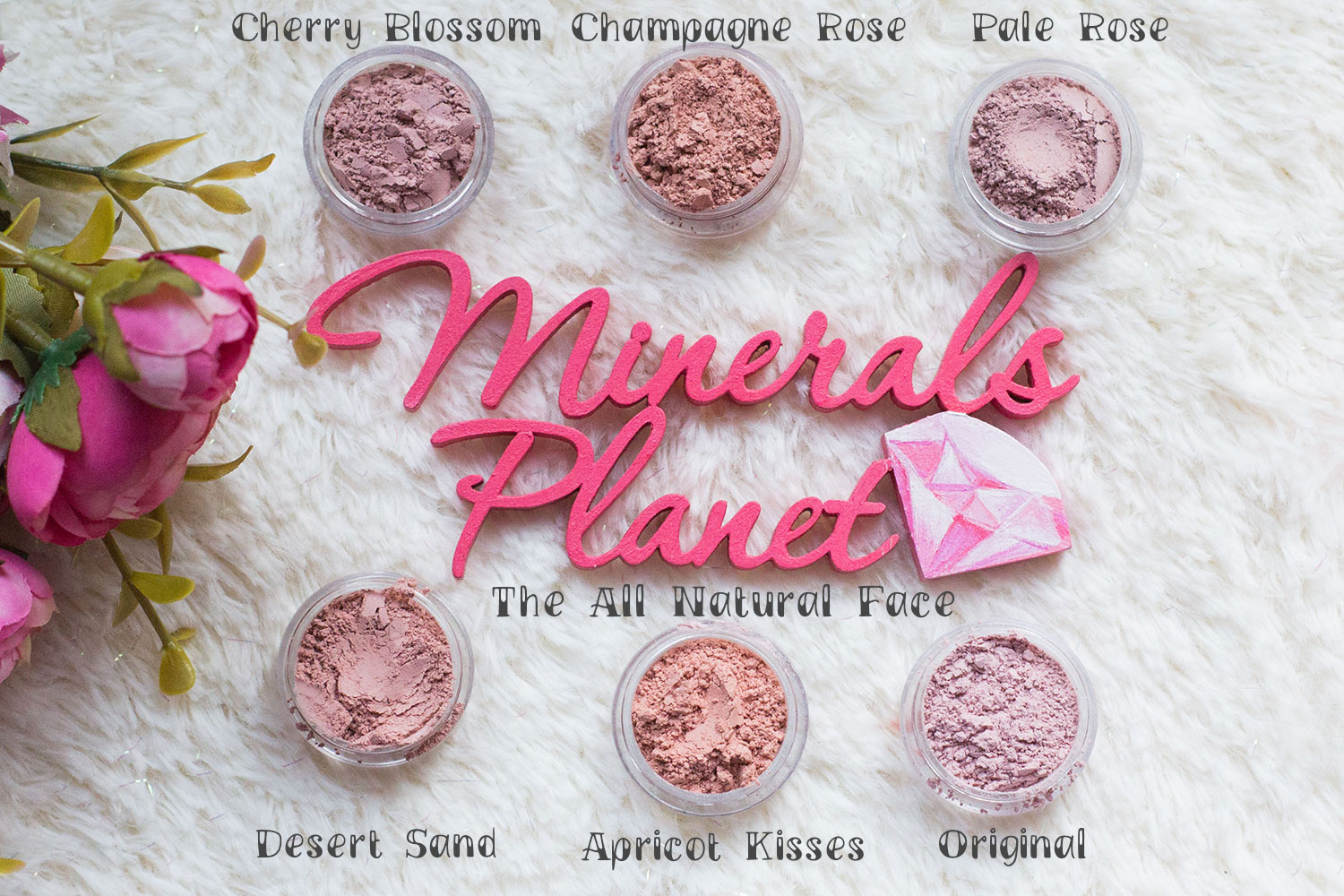 Минеральные Glow глоу румяна The all natural face