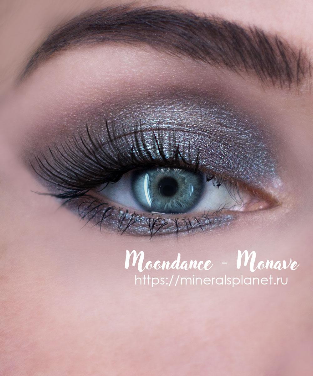 Минеральные тени Moondance - Monave в макияже глаз