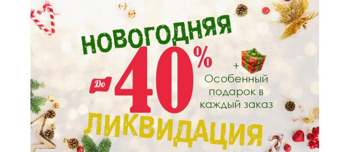 Новогодняя ликвидация! Скидки до -40% + ПОДАРОК